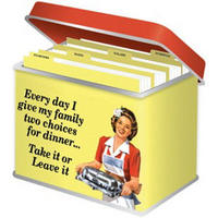 Every Day I Give My Family Two Choices For Dinner. Take It Or Leave It. Recipe Card Tin