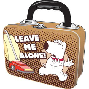 "Family Guy's Brian ""Leave Me Alone"" Tin Tote Preview"