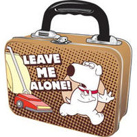 "View Item Family Guy's Brian ""Leave Me Alone"" Tin Tote"