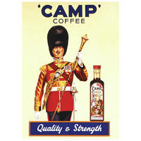 "Camp Coffee ""Quality & Strength"" Postcard"