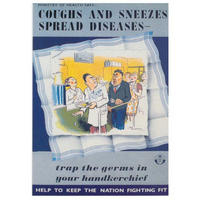 Coughs And Sneezes Spread Diseases Postcard