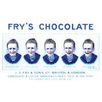 "Fry's Chocolate ""Five Boys"" Postcard"