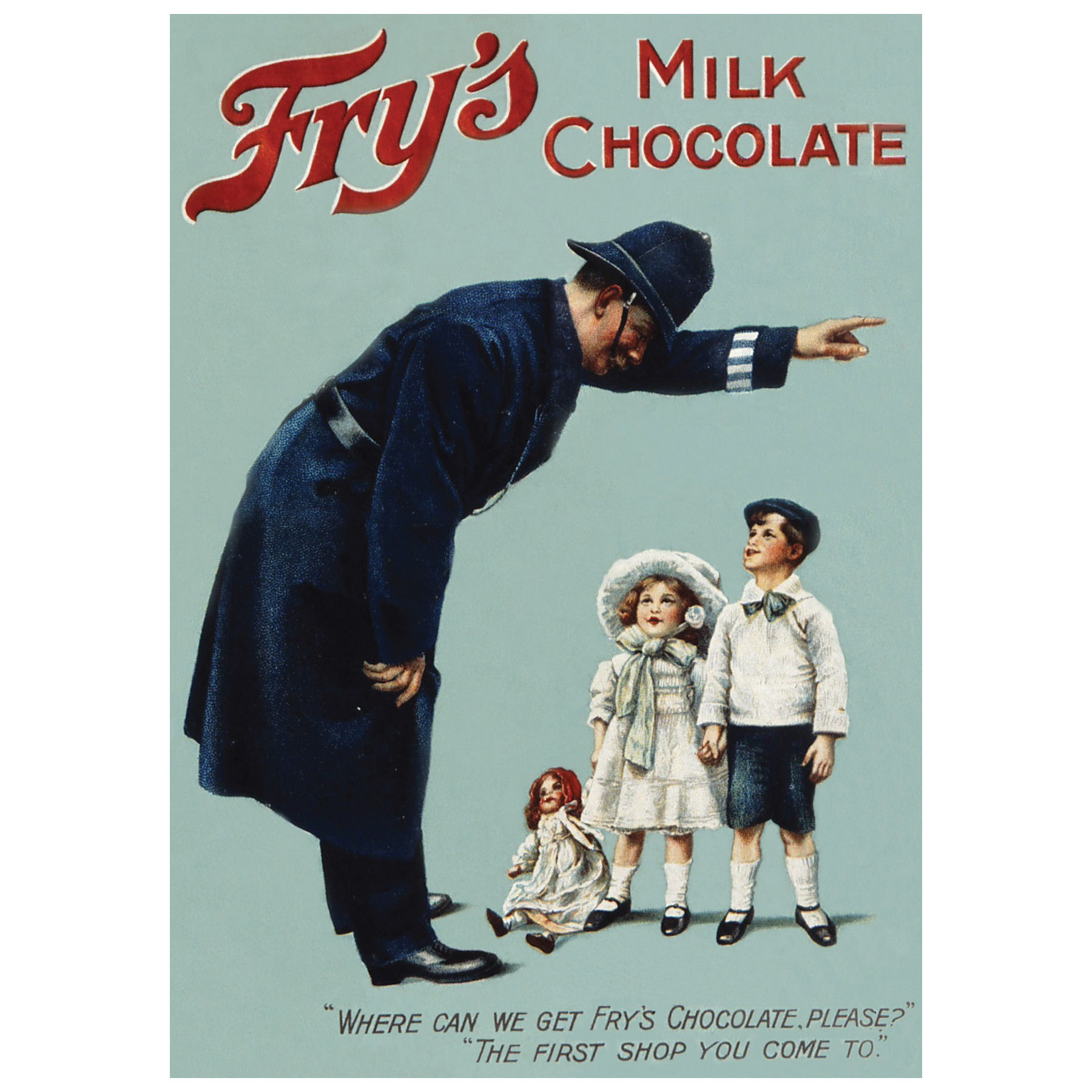 Fry's Milk Chocolate (Policeman) Postcard