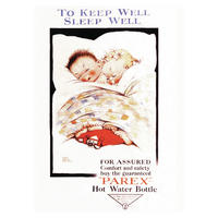 """Mabel Lucie Attwell """"To Keep Well Sleep Well - PAREX Hot Water Bottle"""" Postcard"""