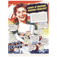 """Oxydol """"Laugh At Wartime Washing Problems!"""" Postcard"""