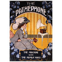 """Pathephone """"The Machine With The Human Voice"""" Postcard"""