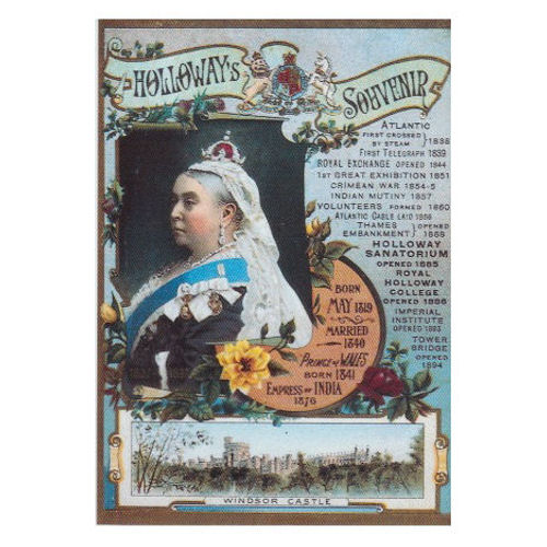 "Queen Victoria ""Holloway's Souvenir"" Postcard"