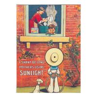 "Sunlight Soap ""I Shan't Be Long, Mother's Using Sunlight"" Postcard"
