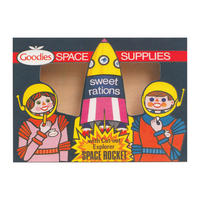 Goodies Sweet Rations Space Supplies Postcard