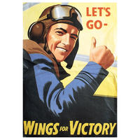 Let's Go - Wings For Victory Postcard