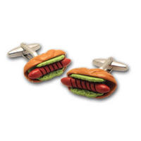 Hot Dog Sausage Cufflinks