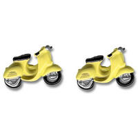 Yellow Moped Cufflink