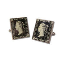 Penny Black Postage Stamp Cufflinks