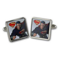 Superman Man Of Steel Flying Pose Cufflinks