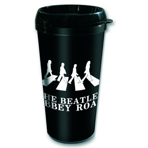 The Beatles Abbey Road Silhouette Plastic Travel Mug