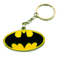 Batman Logo Metal Keyring