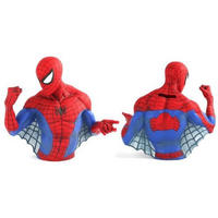 "7"" Spiderman Resin Bust Money Box"