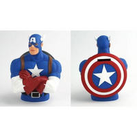"7"" Captain America Resin Bust Money Box"