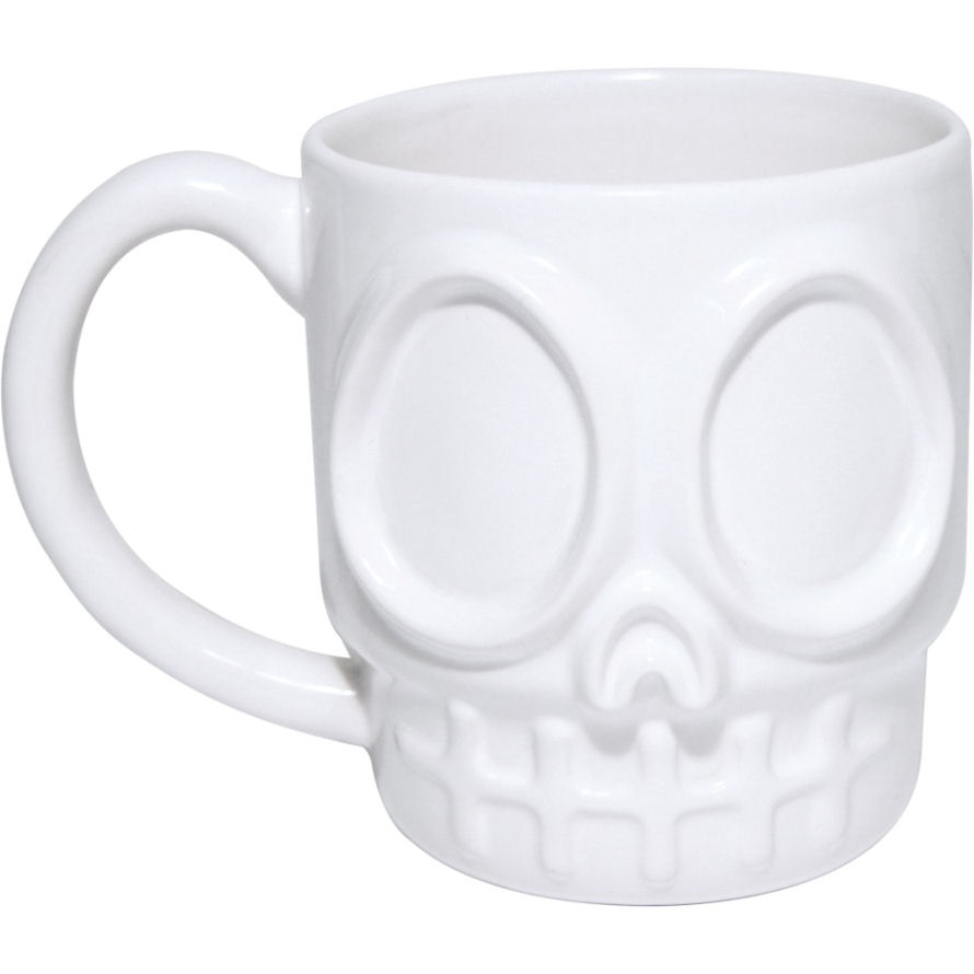 New Dead Thirsty Skull Shaped Mug Ceramic Coffee Tea Cup