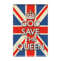 God Save The Queen Fridge Magnet Thumbnail 1