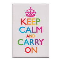 Keep Calm And Carry On Rainbow Fridge Magnet
