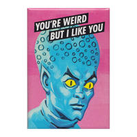 You're Weird But I Like You Fridge Magnet