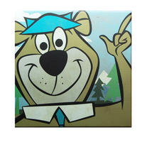 Yogi Bear 30cm x 30cm Canvas