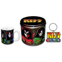 View Item KISS Logo & Masks Mug & Keyring In A Tin Gift Set