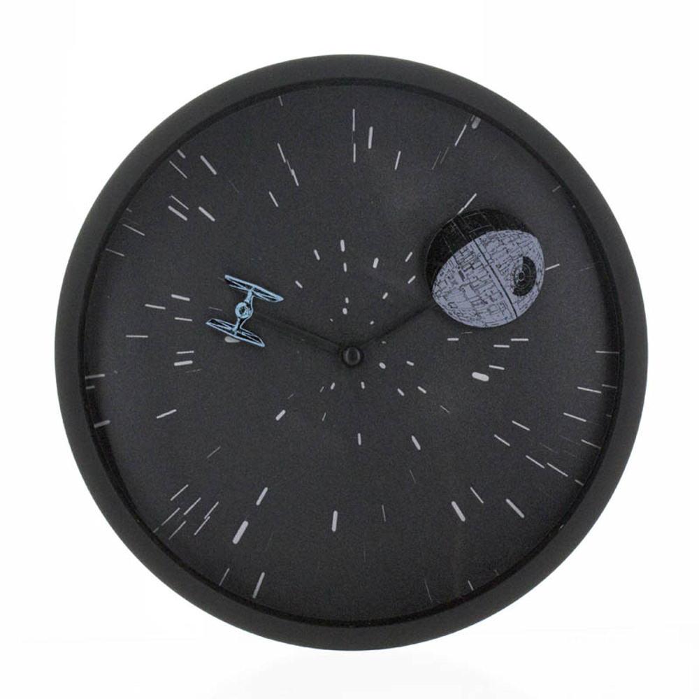 star wars lenticular wall clock retro official film 3d. Black Bedroom Furniture Sets. Home Design Ideas