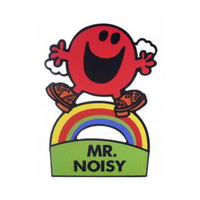 Mr Noisy Shaped Greeting Card