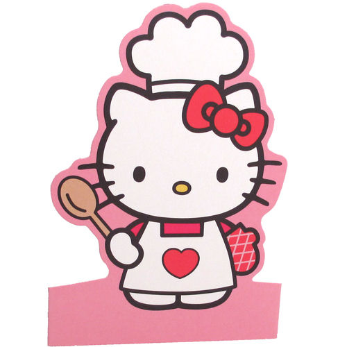 Hello Kitty Cooking Shaped Greeting Card Retro Birthday