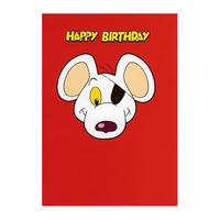 Danger Mouse Face Happy Birthday Greeting Card