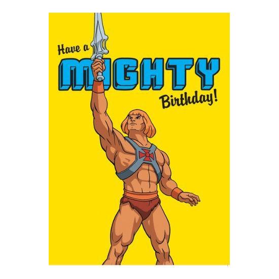 he man have a mighty birthday greeting card retro 80s tv cartoon gift skeletor ebay