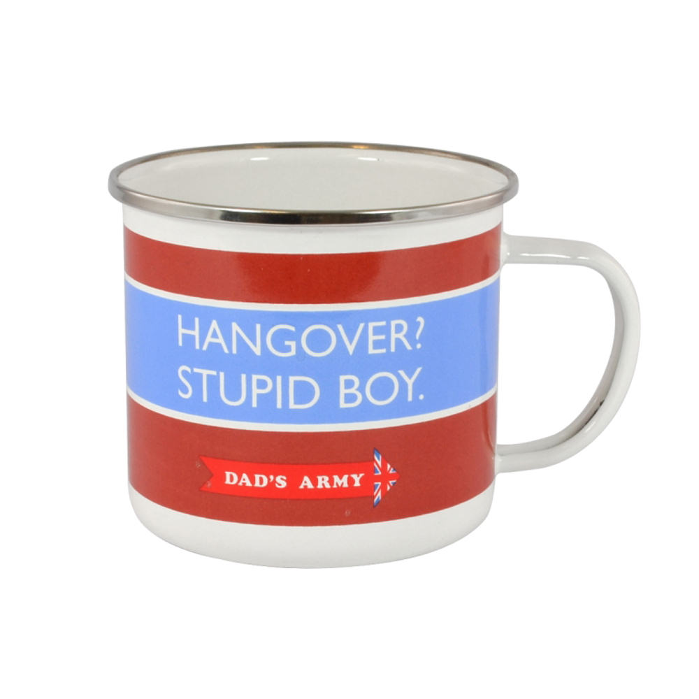 Dad's Army Hangover? Stupid Boy! Enamel Mug