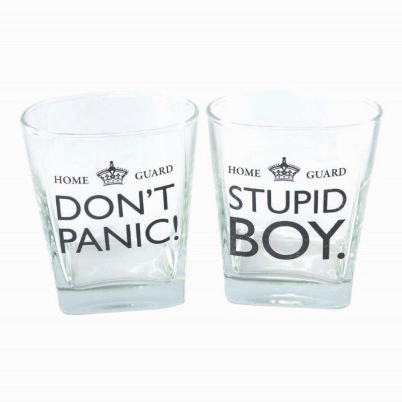 Set of 2 Dad's Army Whiskey Glasses