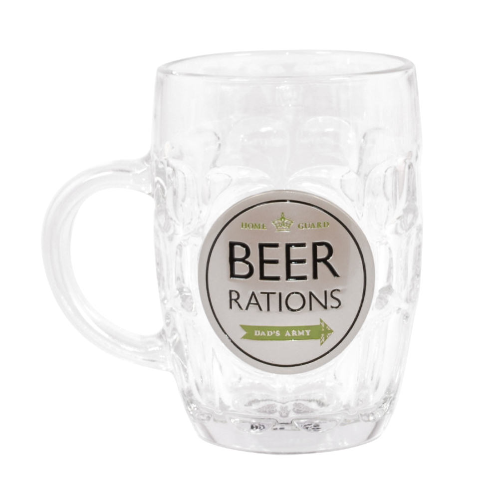 Dad's Army Beer Rations Glass Tankard
