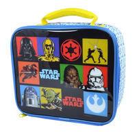 Star Wars Retro Squares Soft Insulated Lunch Bag