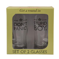 Dad's Army Set of 2 Glasses