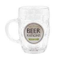 Dad's Army Beer Rations Glass Tankard Thumbnail 1