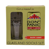 Dad's Army Glass & Socks Set