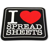 I Love Spreadsheets PVC Coaster