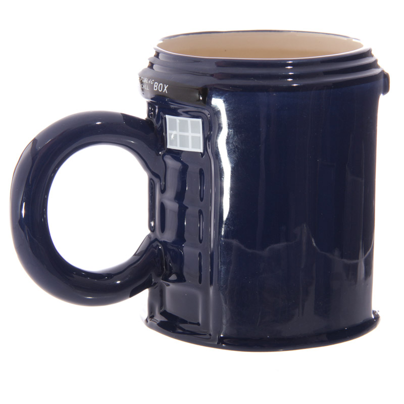 Police Box Round Shaped Mug Best Of British Kitschagogo