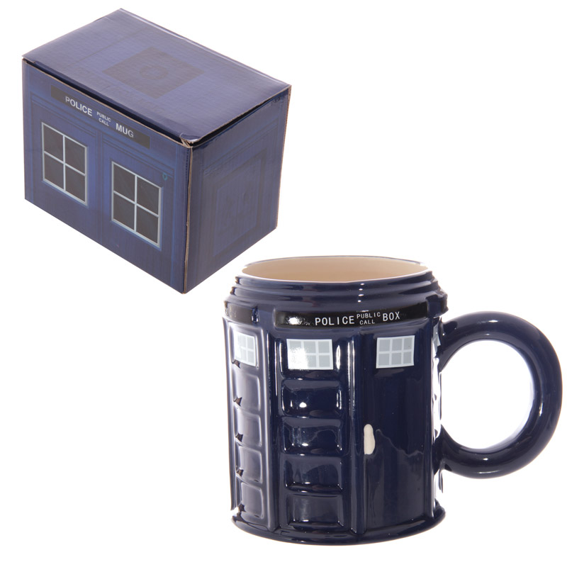Police Box Round Shaped Mug