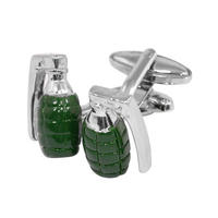 Dad's Army Hand Grenade Cufflinks Thumbnail 1