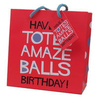 Have A Totes Amazeballs Birthday! Medium Gift Bag & Tag