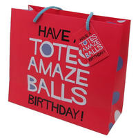Have A Totes Amazeballs Birthday! Large Gift Bag & Tag
