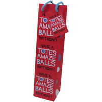 Have A Totes Amazeballs Birthday! Bottle Gift Bag & Tag