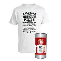 View Item Baldwin's Wind & Digestive Pills T-shirt In A Tin (Men's M L XL)