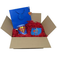Superman Logo Mug, Coaster, & Metal Keyring Gift Bag Thumbnail 1