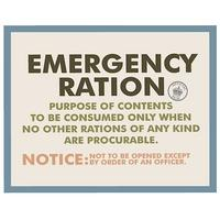 Emergency Ration Postcard